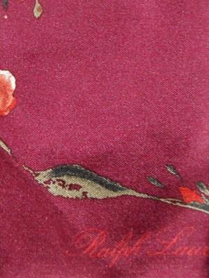 Ralph Lauren rose design silk scarf