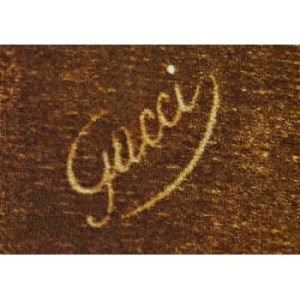 Gucci 1978 brown and gold butterfly design silk scarf