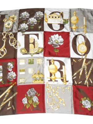 Pictorial silk scarf