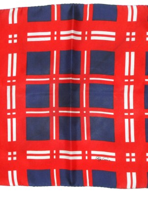 Oleg Cassinii pocket square in red white and blue