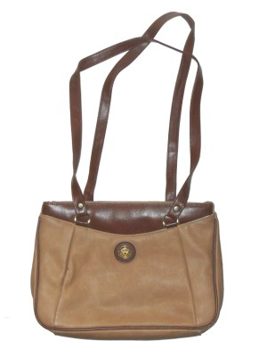 Retro Pierre Balmain light brown leather bag