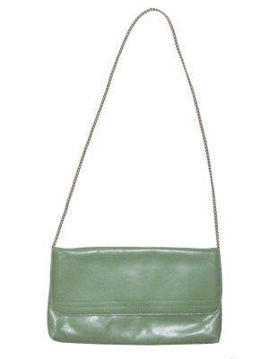 Vintage Elgee England green leather bag