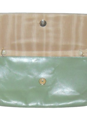 Vintage Elgee England green leather bag