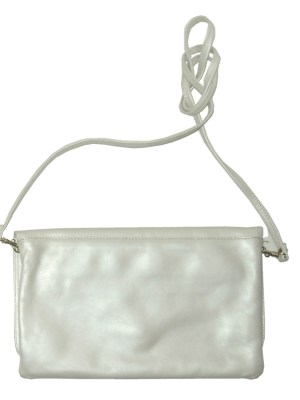 Nicoli Fernando Italy cream leather bag