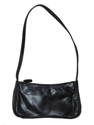Tula small black leather shoulder bag