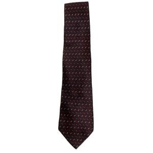 Louis Feraud silk satin tie with small rectangle design