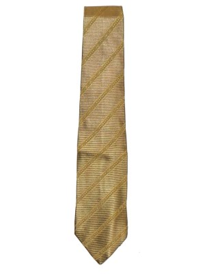 Gold silk tie by Salvatore Ferragamo