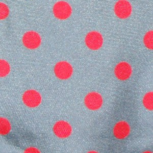 Silver grey tie with a pink spot design by John Comfort, London England