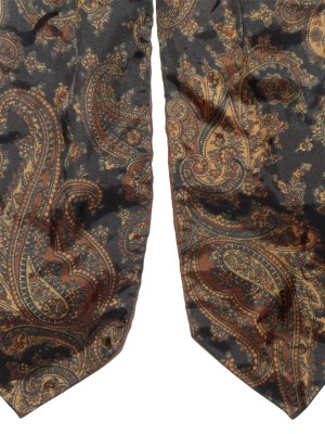 Vintage brown paisley design Yarn cravat
