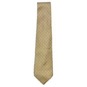Vintage Pierre Cardin silk tie with yellow and brown design