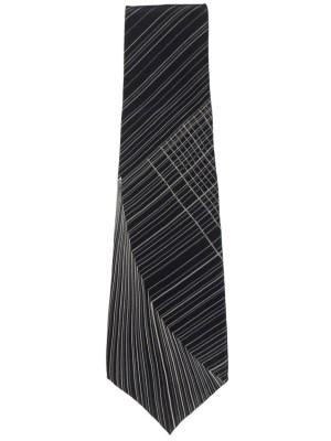 Vintage line design silk tie by Yves Saint Laurent