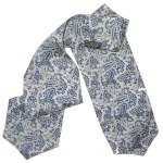 Blue paisley design cravat by Tootal