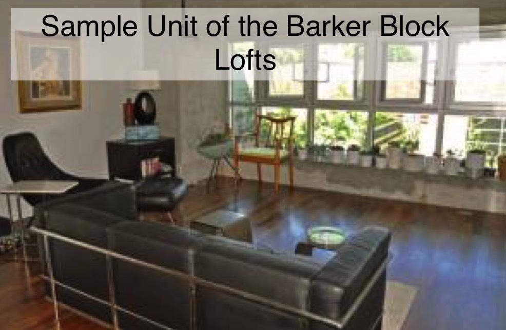 Barker Block Loft Living Room