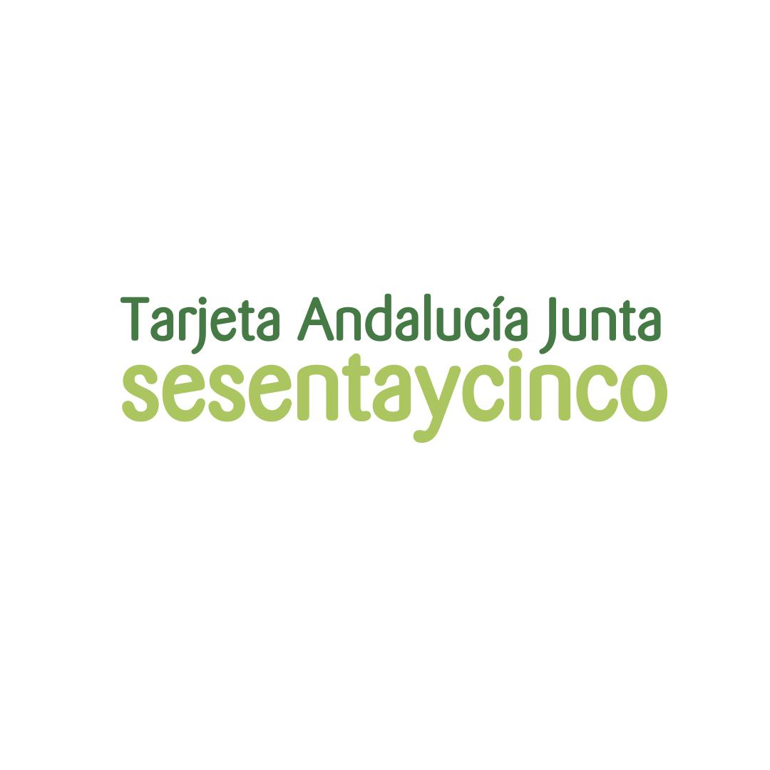 Tarjeta Andalucía Junta sesentaycinco. Junta de Andalucía