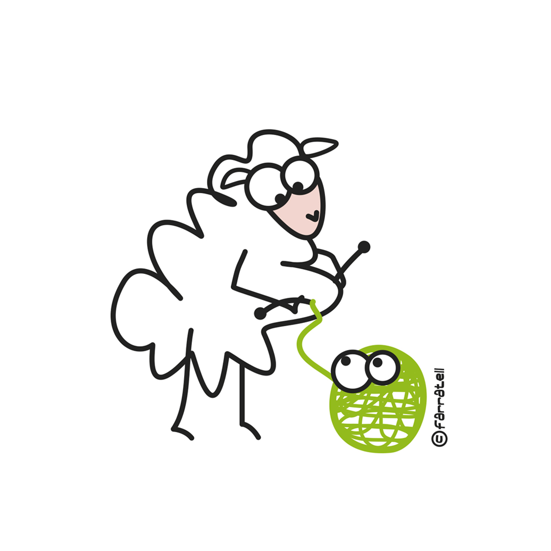 oveja tejiendo