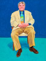 David Hockney<br> Bing McGilvray, 20-21 December, 2014<br> Acrylic on canvas<br> 48 x 36 in. (121.9 x 91.4 cm)