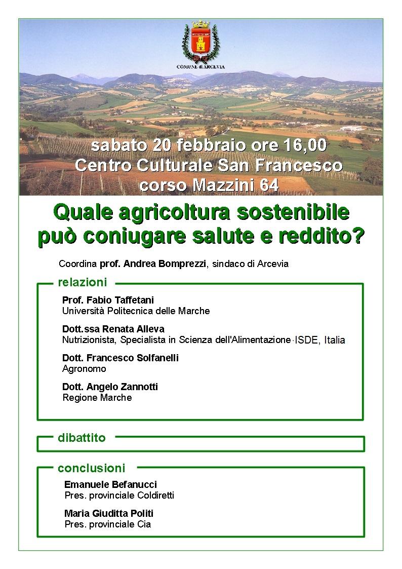Ad Arcevia un convegno su agricoltura e salute