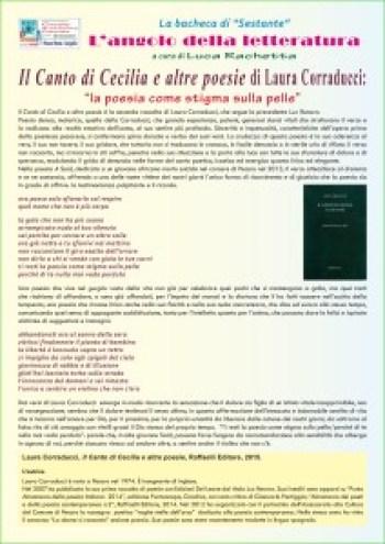 A Palazzo Mastai la presentazione dell'ultima silloge di Laura Corraducci