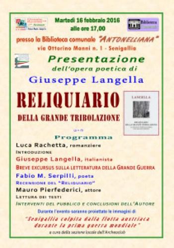 Senigallia, in Biblioteca l'incontro con il professor Langella