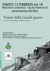 A Trecastelli si presenta un libro sulla grande guerra