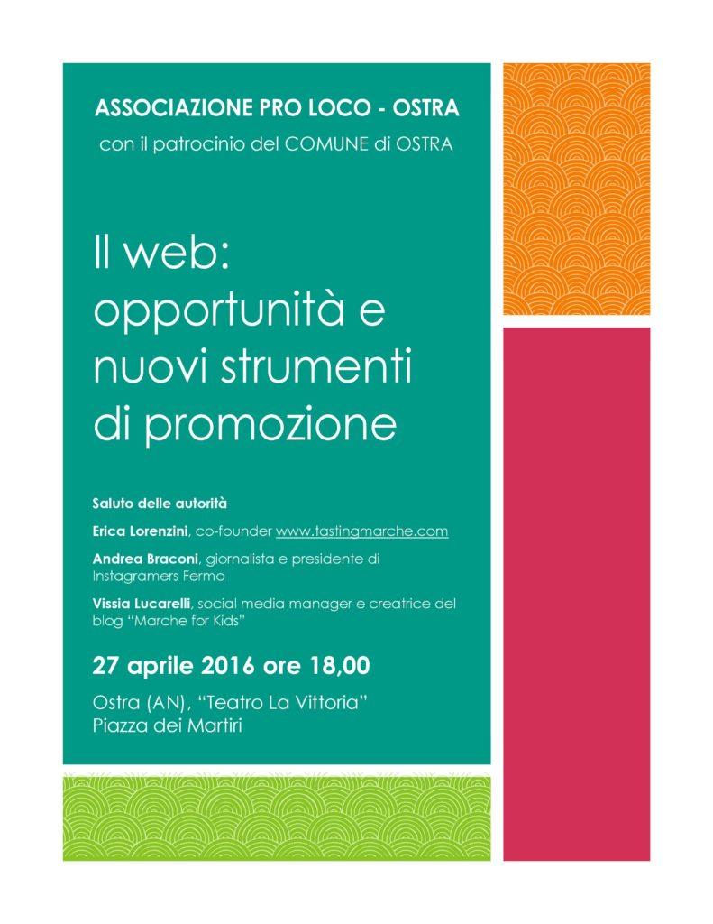 Il web: opportunità e nuovi strumenti di promozione
