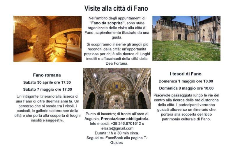 In programma visite guidate alla città di Fano