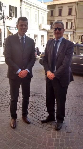 Il nuovo prefetto Antonio D'Acunto in visita a Senigallia