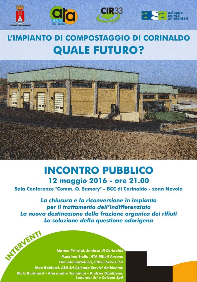 Impianto di compostaggio, a Corinaldo si cambia
