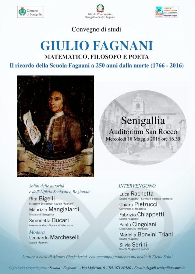 La Scuola Fagnani ricorda il matematico, filosofo e poeta Giulio Fagnani