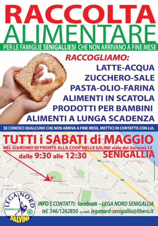 La Lega Nord organizza a Senigallia una raccolta di cibo