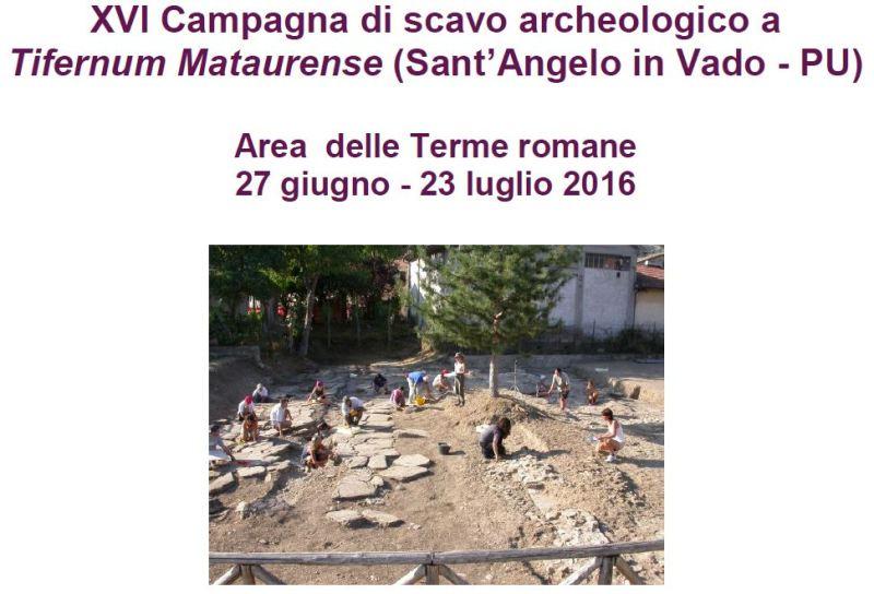 Avviata la campagna di scavi nelle terme romane di Sant'Angelo in Vado