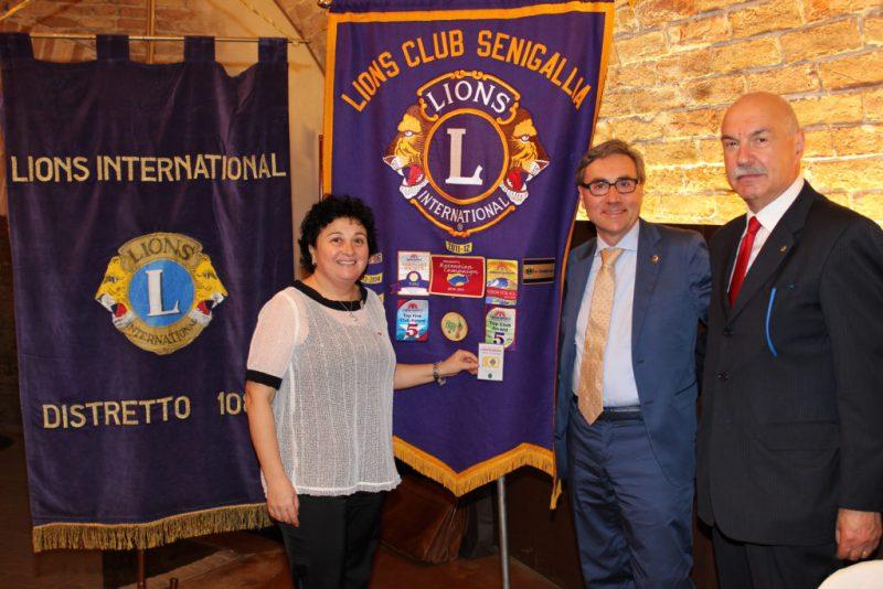 Tre nuovi ingressi al Lions Club di Senigallia in occasione della 44^ Charter