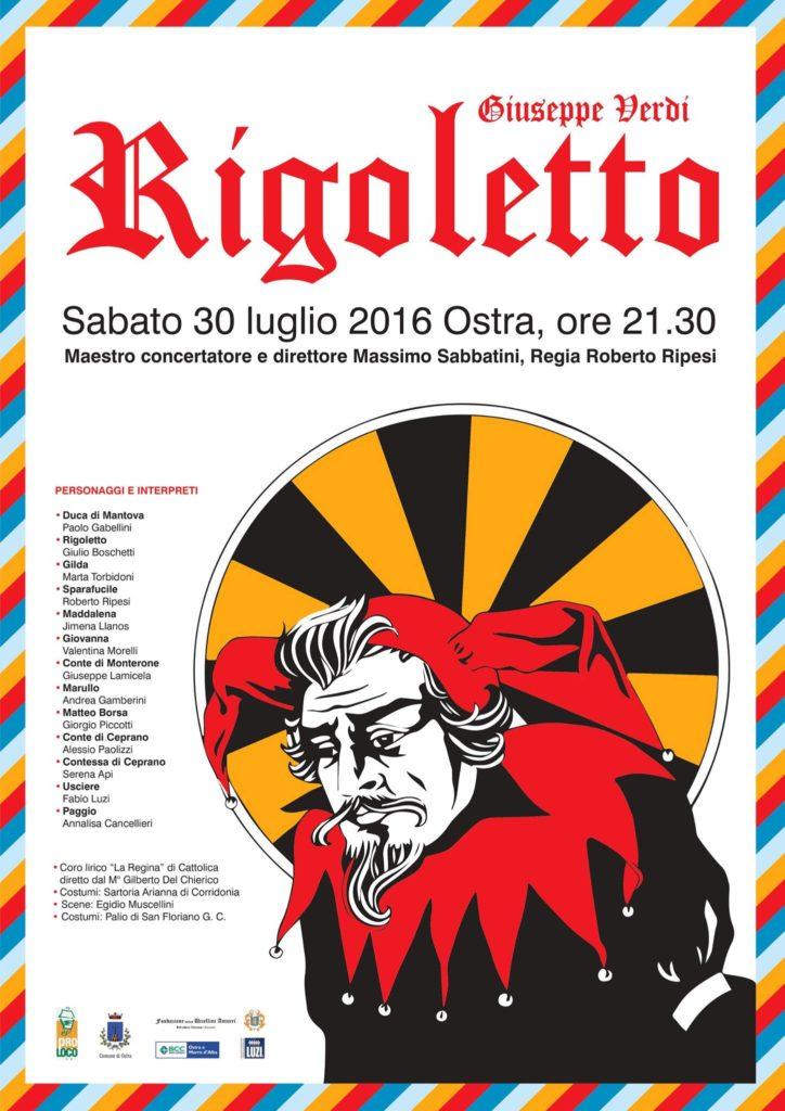 """Ostra, il """"Rigoletto"""" di Giuseppe Verdi sabato sera in Piazza dei Martiri"""