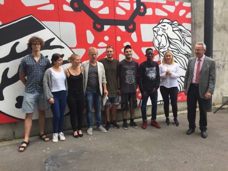 """A Waiblingen il """"murales"""" degli alunni di Jesi"""