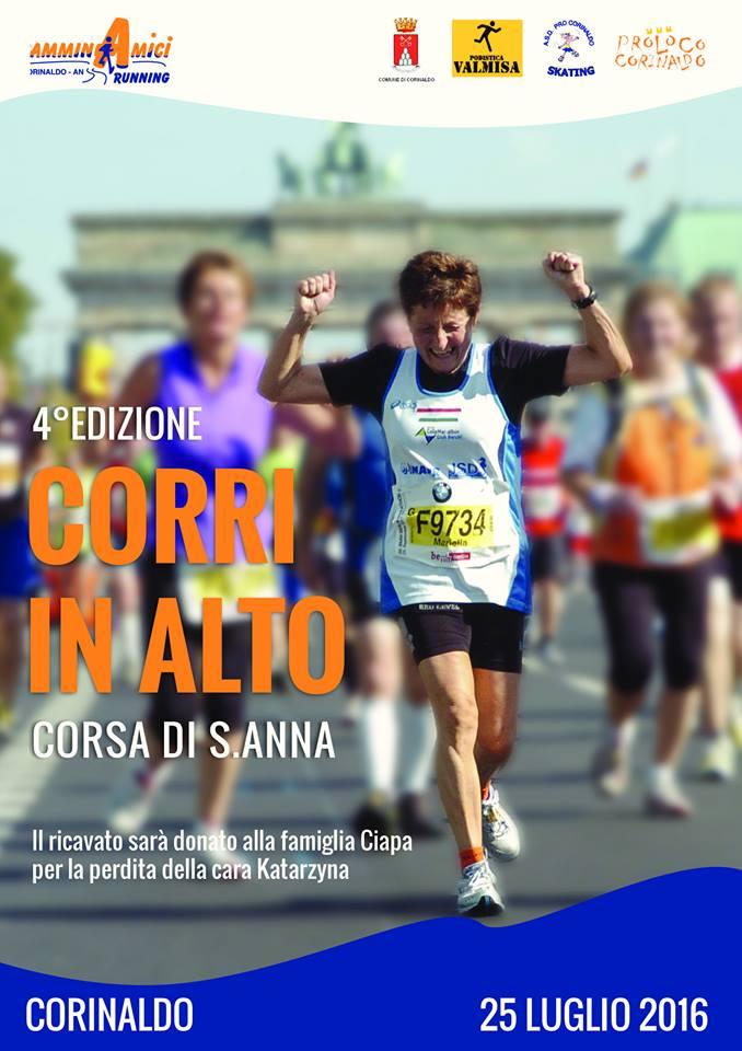 Torna la maratona di Corinaldo. Lunedì la quarta edizione di CorrinAlto