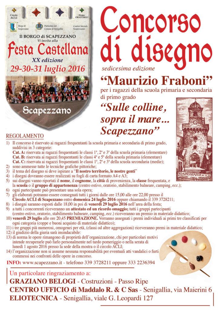 Un concorso di disegno alla Festa Castellana di Scapezzano