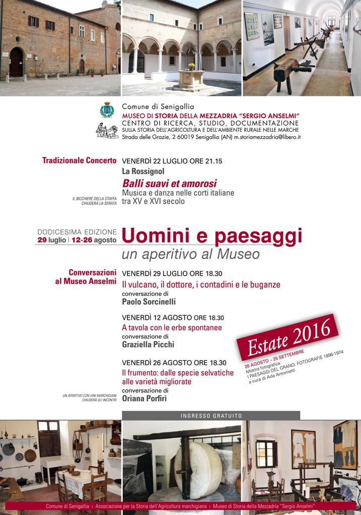 """Al via a Senigallia la dodicesima edizione di """"Uomini e Paesaggi"""""""