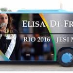 Un nuovo bus d'argento dedicato a Elisa Di Francisca dalle autolinee Crognaletti di Jesi