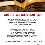 """A Corinaldo torna """"Autori nel Borgo Antico"""""""