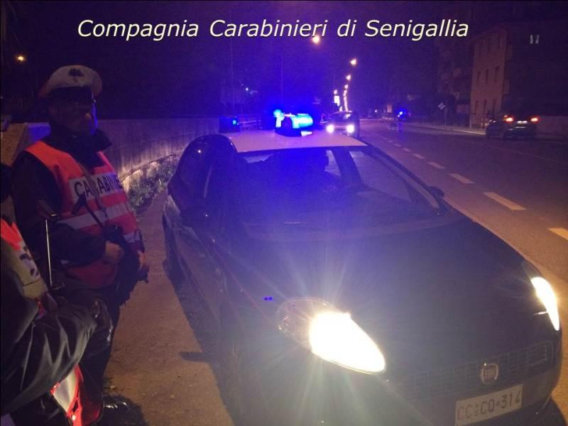 Maxi controllo dei carabinieri lungo la Statale tra Senigallia e Montemarciano
