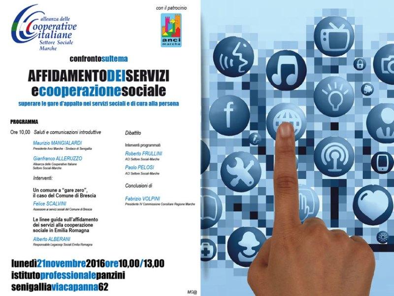 Affidamento dei servizi e cooperazione sociale, ipotesi a confronto a Senigallia