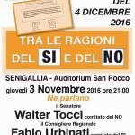 SENIGALLIA / Giovedì a San Rocco confronto sul Referendum costituzionale