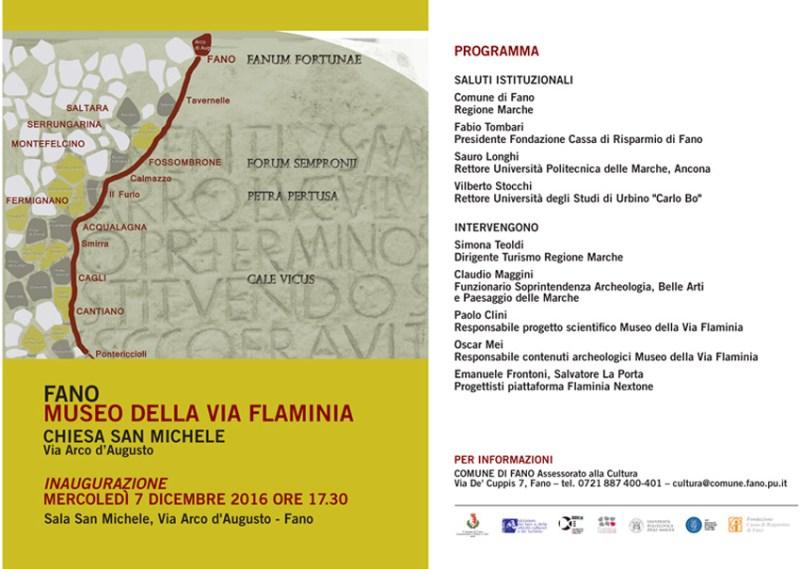 FANO / Mercoledì l'inaugurazione del nuovo Museo della Via Flaminia
