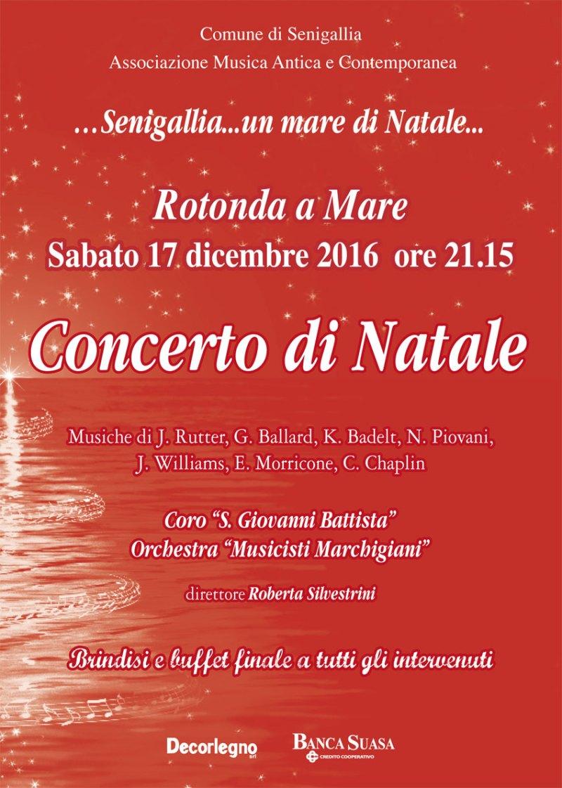 """SENIGALLIA / Sabato alla Rotonda a Mare """"Concerto di Natale …con colonne sonore"""""""