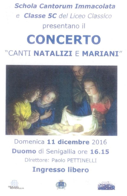 SENIGALLIA / Domenica il concerto di canti natalizi della Schola Cantorum Immacolata