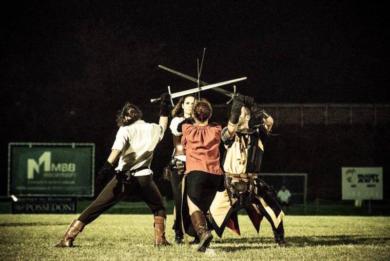 JESI / Spettacolo dei gruppi storici del Palio di San Floriano nel pre-match del 6 Nazioni di rugby femminile
