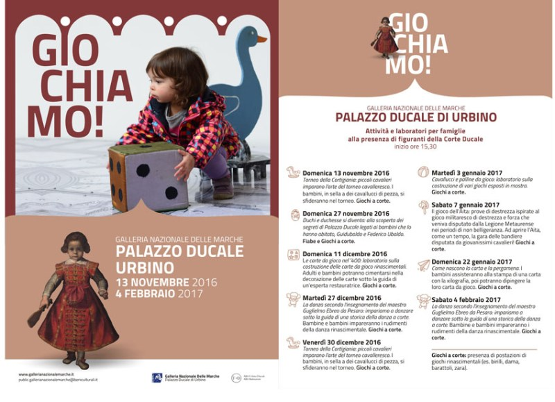 URBINO / Giochiamo, ultimo appuntamento alla Galleria Nazionale delle Marche
