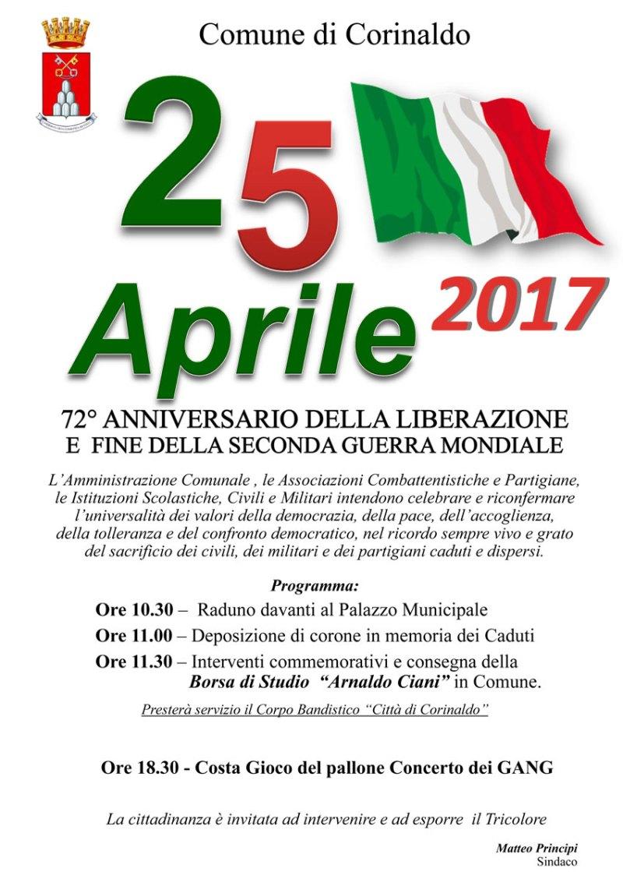 A Senigallia, Barbara, Castelleone di Suasa, Corinaldo, Sassoferrato tante iniziative per celebrare la Liberazione