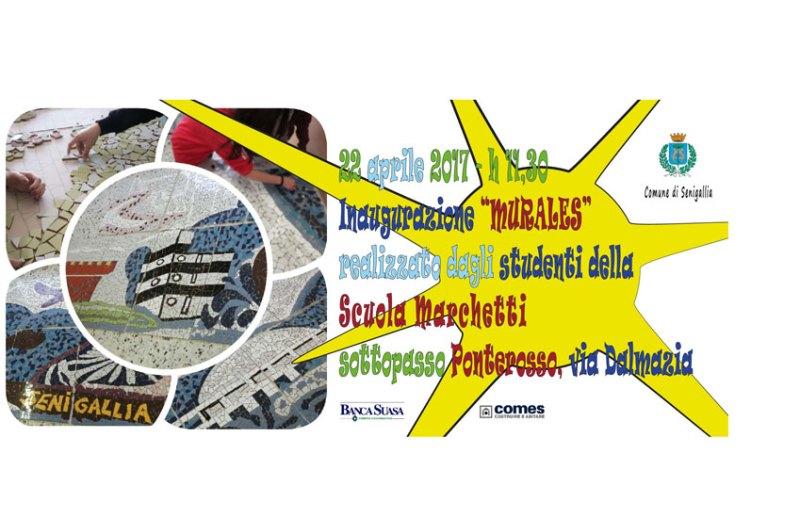 SENIGALLIA / Sabato mattina al Ponterosso l'inaugurazione del murales realizzato dagli studenti della Marchetti