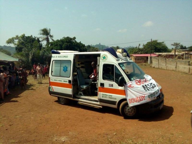 Da Serra de' Conti donata un'ambulanza ad un villaggio della Costa d'Avorio